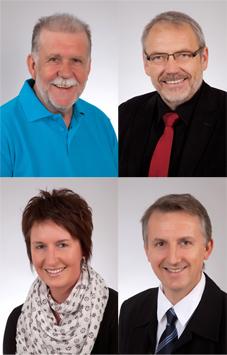 SPD-Gemeinderäte 2014-2019 (Rolf Acker, Benno Homann, Heike Rösch, Thomas Weber)